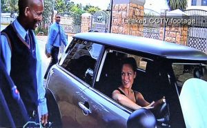 CCTV image of Reeva arriving on Feb 13 2