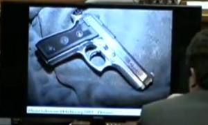 close up of cocked gun