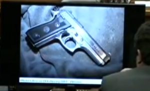 close up of cocked gun