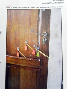 door with markers