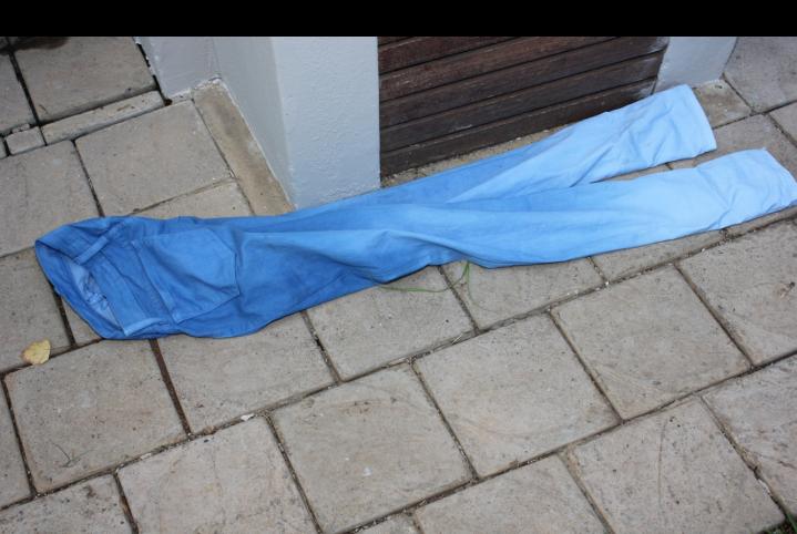 blue denim outside