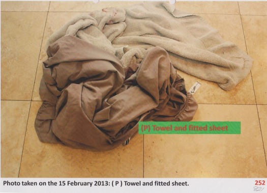 fitted sheet and towel downstairs