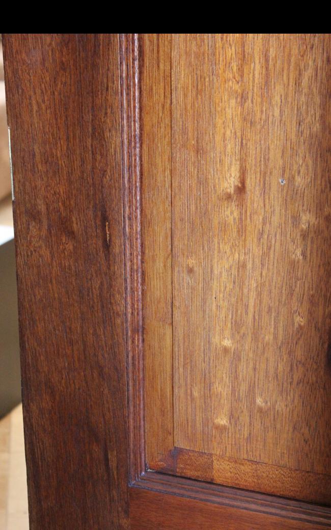 Pellet hole in OP door from the bedroom side