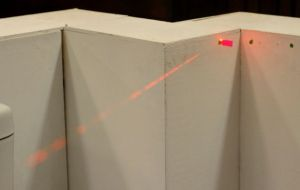 laser thru B