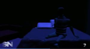 OP getting off bed in reenactment