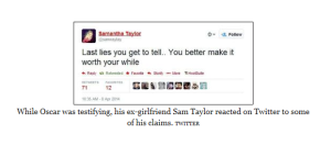 Sam tweet