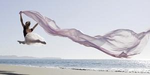 ballerina on beach