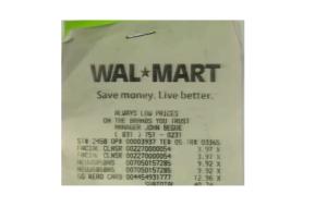 JA Walmart Receipt