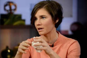 GOOD MORNING AMERICA - During an exclusive interview with Robin Roberts, Amanda Knox vowed to fight murder conviction, on GOOD MORNING AMERICA, 1/31/14, airing on the ABC Television Network. (Photo by Ida Mae Astute/ABC via Getty Images) AMANDA KNOX