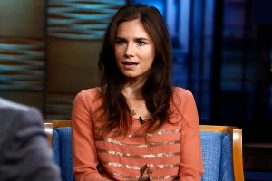 This image released by NBC shows Amanda Knox, right, during an interview with Matt Lauer on the