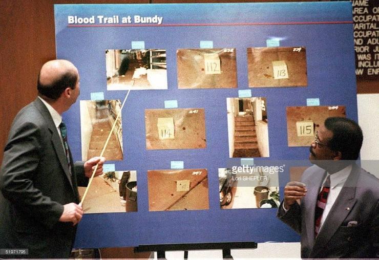 blood trail at bundy