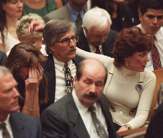 Members of murder victim Ron Goldman family react