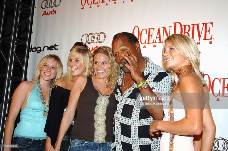 O.J. Simpson and guests