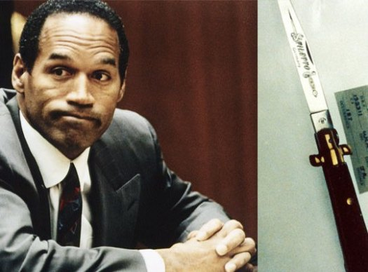 OJ and knife
